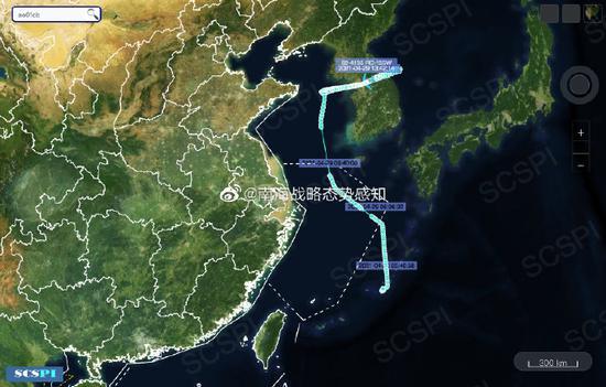 南海战略态势感知:美军5架侦察机在黄、东、南海活动图片