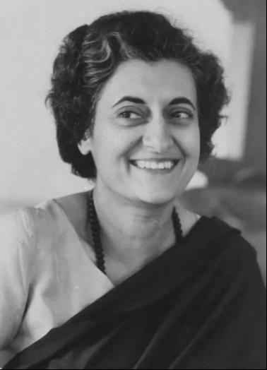 图为印度第一位女总理、尼赫鲁之女英迪拉·甘地。图源:澎湃新闻