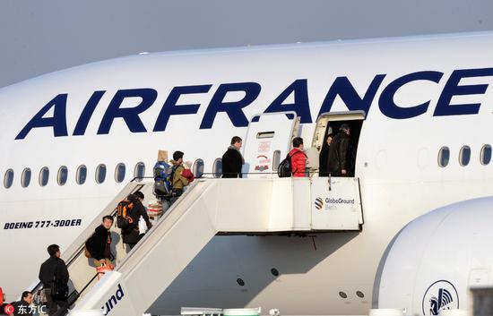 法航飞往北京的航班 资料图自东方IC