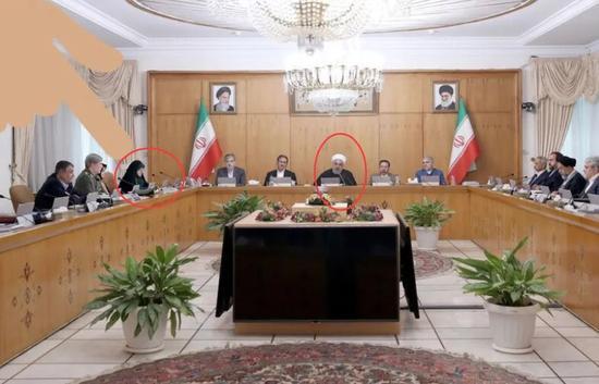 """副总统玛苏梅在""""确诊的前一天"""",与总统鲁哈尼共同出席了内阁会议,中间仅隔两人"""