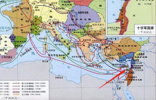 ▲十字军东征陆路必然经过黎巴嫩地区