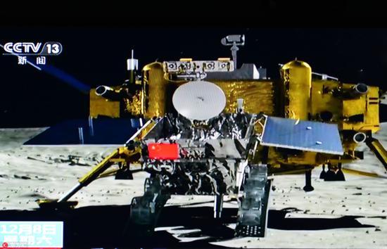 嫦娥四号探测器在月背着陆动画演示��图片来源��东方IC��