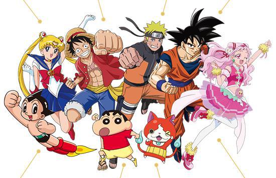8部动漫主角为东京奥运会应援。图/社交媒体