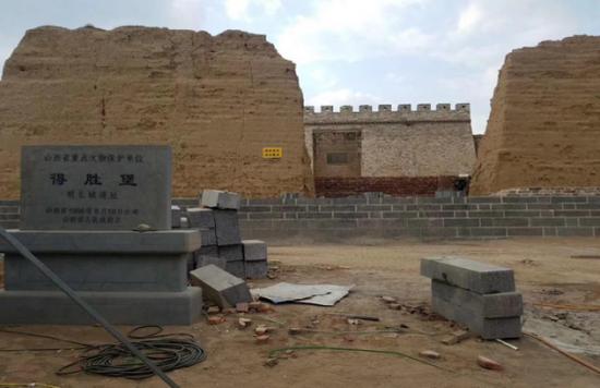 修复中的得胜堡,图片来自网友张先生。