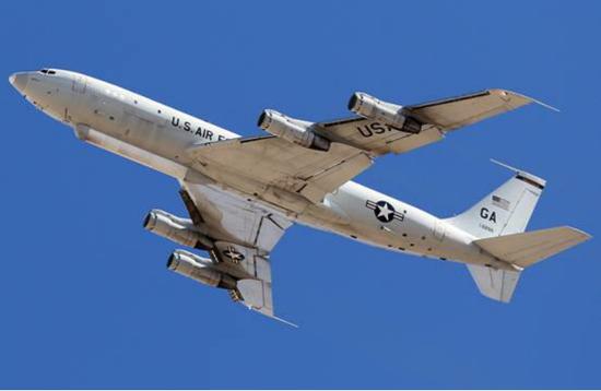 """美军E-8C""""团结星""""旷地监督飞机(资料图)"""