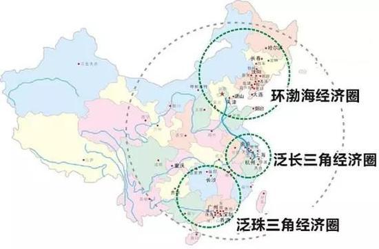 我国的三大经济圈