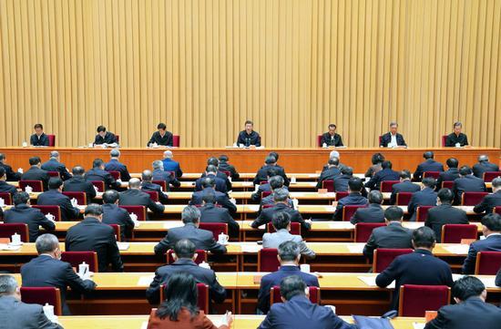 ↑11月16日至17日,中央周全依法治国事情集会在北京召开。中共中央总书记、国度主席、中央军委主席习近平出席集会并揭晓重要讲话。新华社记者 饶爱民 摄