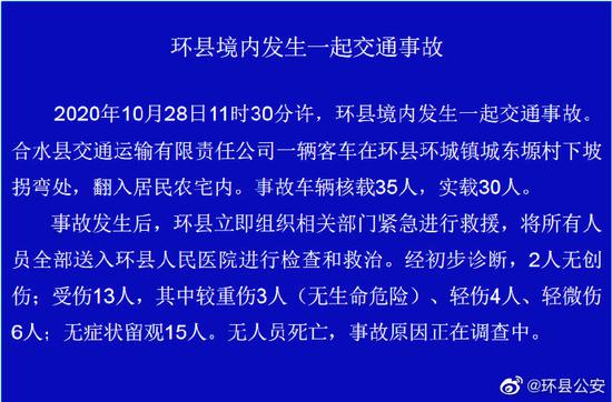 甘肃庆阳环县载客30人大巴翻入农家院图片