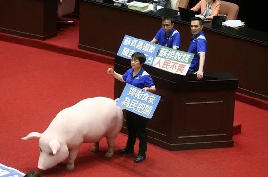 国民党再占议场  要求苏贞昌为美猪入台道歉图片