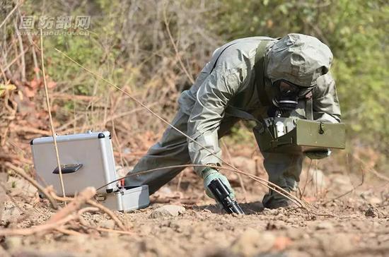 侦测毒剂教学训练。