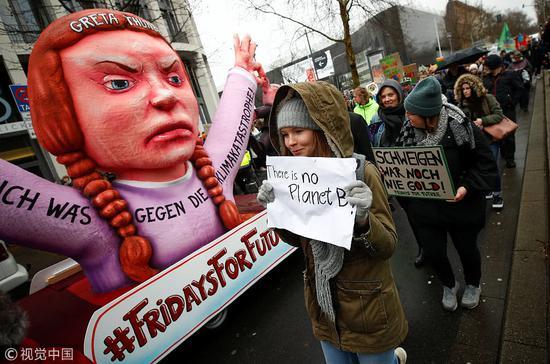 3月15日,德国,青年人集会抗议气候变化 图自视觉中国