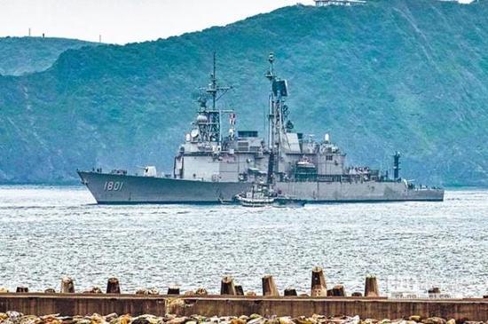 """台军""""基隆""""号驱逐舰,该舰建造于1978年"""