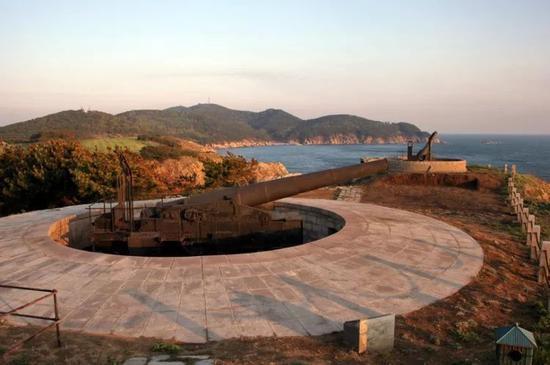 ▲刘公岛炮台