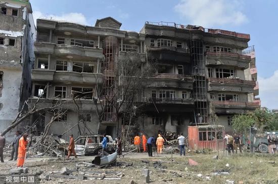 ▲当地时间2019年7月28日,阿富汗喀布尔发生的爆炸事件导致至少20人死亡,50人受伤。