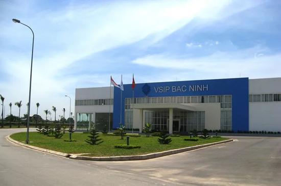 图为北宁省越南-新加坡工业园一角。