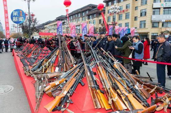 3000余枪枝,陕西会合烧毁!(图2)
