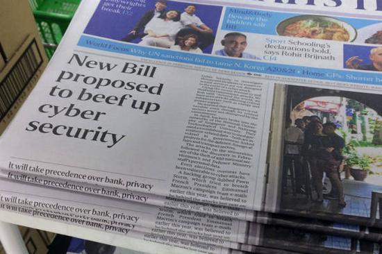 新加坡这条法案从去年7月提起,刊登报纸头条征集民众意见图自海峡时报