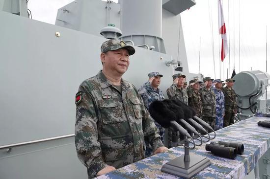 △习近平在南海海域检阅部队并发表重要讲话