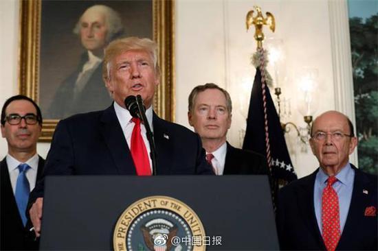 特朗普宣布访华贸易代表团名单:财政商务部长领衔时鸣春涧中的上一句