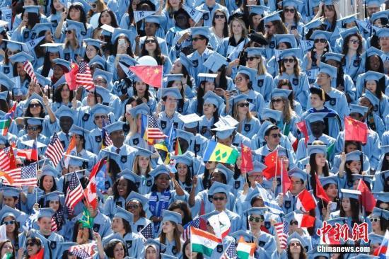 哥伦比亚大学毕业典礼(图源:中新网)