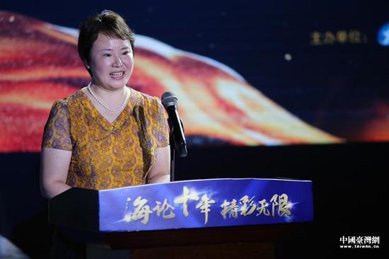 中国台湾网总经理刘晓辉致辞。(中国台湾网 袁楚 摄)