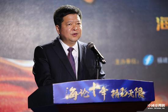 中共中央台办、国务院台办副主任龙明彪致辞。(中国台湾网 袁楚 摄)