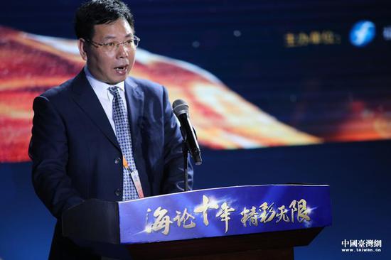 福建省广播影视集团总经理庄志松致辞。(中国台湾网 袁楚 摄)