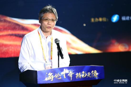 台湾联合报股份有限公司总经理方桃忠致辞。(中国台湾网 袁楚 摄)