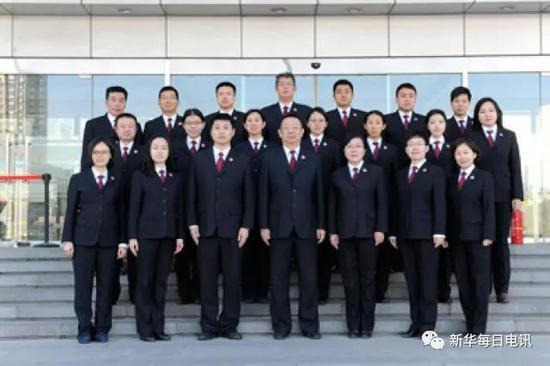 北京市人民检察院第二分院处室合照。图片由受访者提供