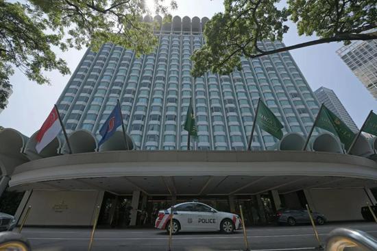 这是8日拍摄的新加坡香格里拉酒店。新华社发 (邓智炜摄)