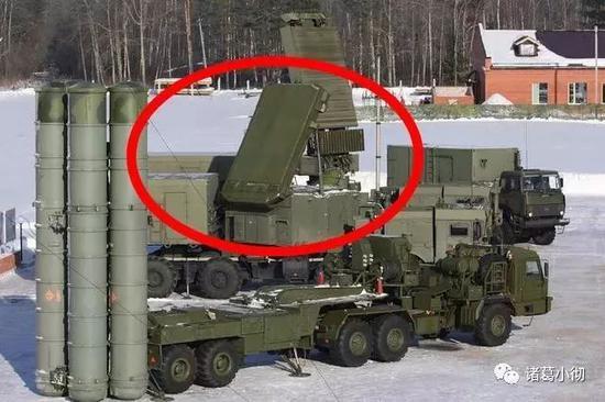 图为S400导弹装备的相控阵雷达