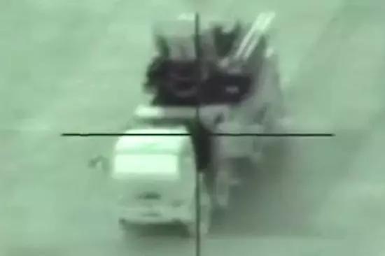 """以色列导弹击毁""""铠甲S1""""前的画面"""