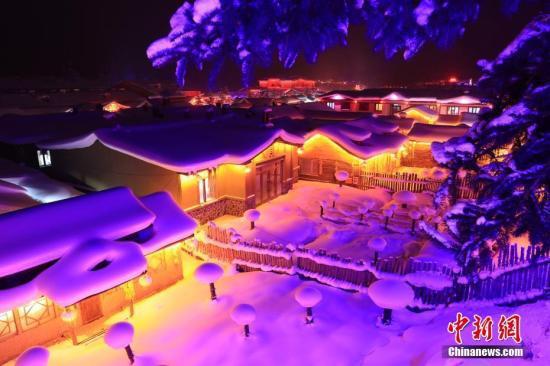 资料图:中国雪乡。中新社记者 于琨 摄