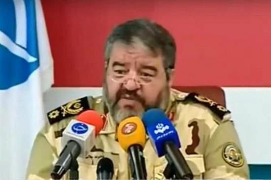 伊朗民防事务组织负责人贾拉里(图片来源:英国《地铁报》)
