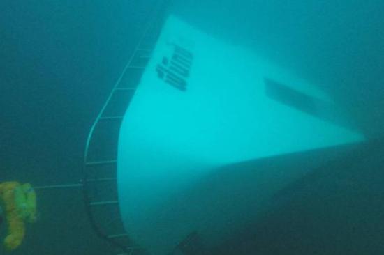 ▲沉入水中的鳳凰潛水號 圖自泰國《每日新聞》