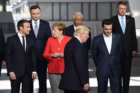▲川普與歐洲盟友的分歧越來越嚴重。(法新社)