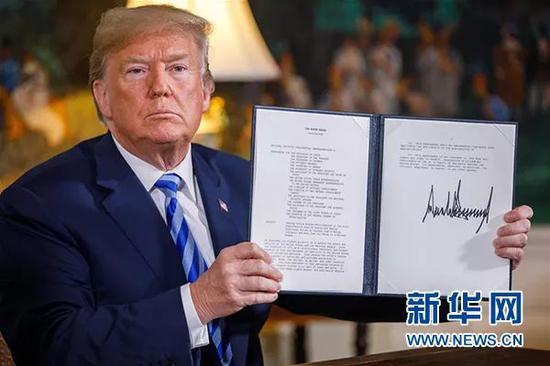 今年5月美國退出伊核協議,重啓對伊朗制裁
