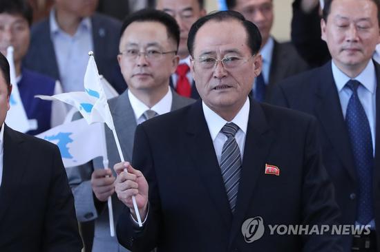 图为朝鲜职业总同盟委员长。(韩联社)
