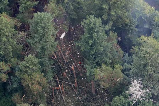 ▲飛機墜毀處  圖據《紐約時報》