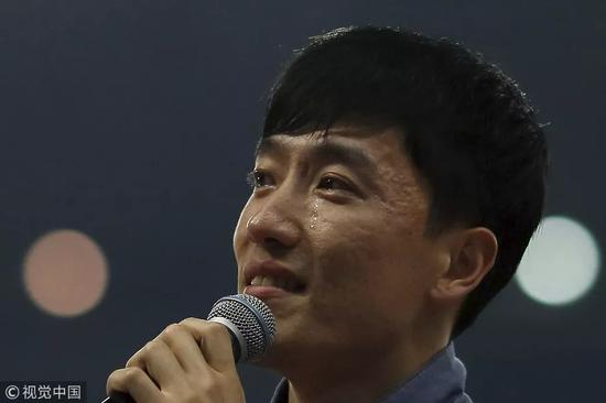 ▵2015年5月17日,上海,2015国际田联钻石联赛上海站,刘翔退役仪式举行