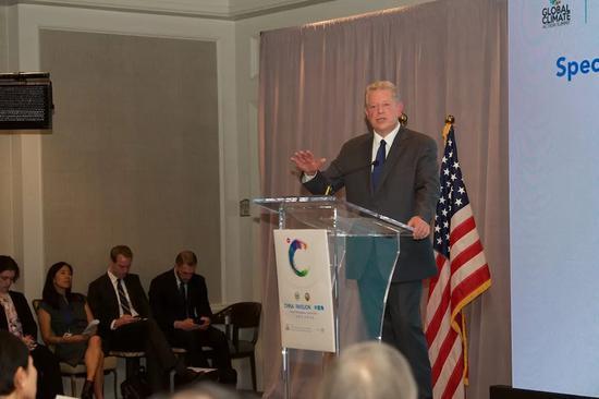 圖爲前美國副總統戈爾 Woodrow Chris 攝