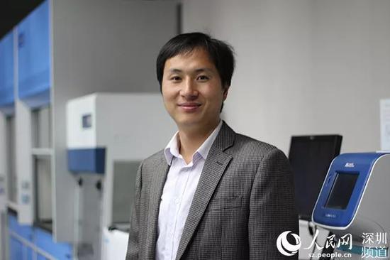 贺建奎。贺建奎实验室供图 图片来自人民网深圳频道