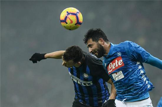▲ local time December 26, 2018, Milan, Italy, season 18/19 Serie A round 18, Inter Milan 1-0 Napoli. According to Oriental IC