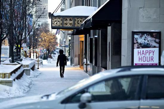 ▲1月30日,芝加哥遭寒流入侵。