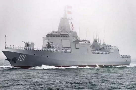 ▲圖爲中國海軍055型驅逐艦