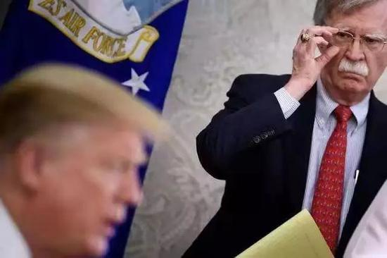 ▲博尔顿在特朗普内阁中的地位正在弱化。