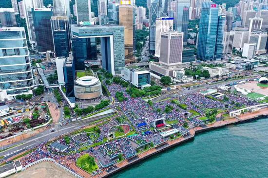 媒体:近50万香港市民站出来 这才是香港主流民意|暴力