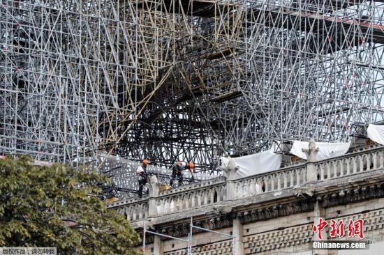 巴黎圣母院维修工程重启 上月因清除铅污染暂停|铅污染