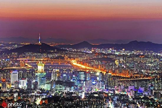 A night view of Seoul, Republic of Korea。 [Photo/IC]