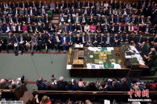 材料图片:英国议会。